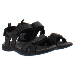 Khombu Men's Adjustable Strap River Sandals Black